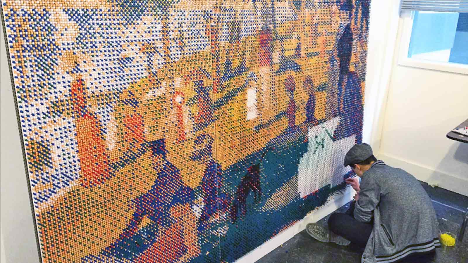 Toronto School of Art | Campagne « œuvre d'art en punaises » | Médias sociaux, Production vidéo, Publicité, Stratégie de marque