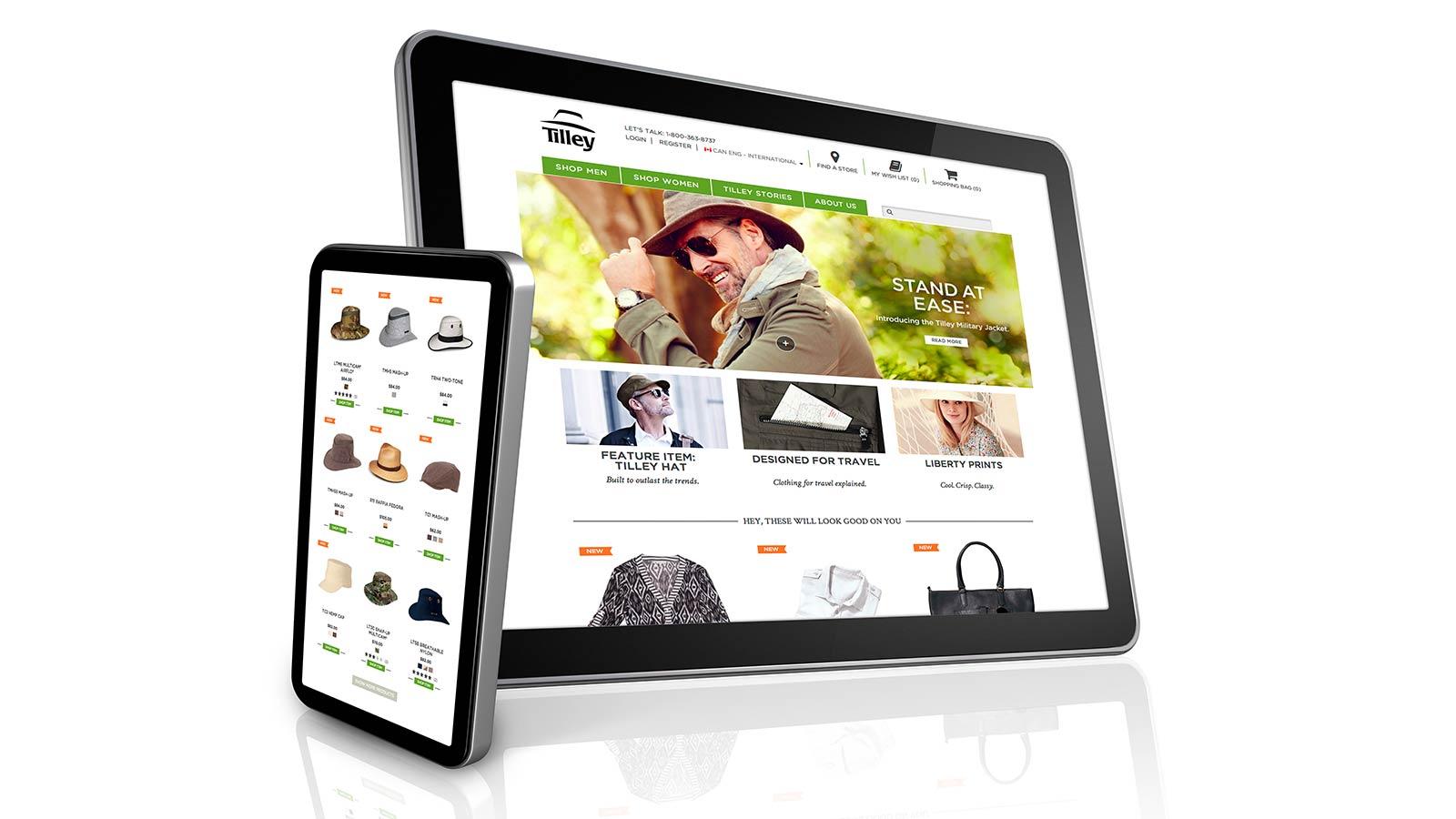 Tilley Endurables   Refonte de l'image de marque   Commerce électronique, Conception de sites web, Développement de site web, Image de marque, Innovation digitale, Marketing local, Marketing numérique, Médias sociaux, Mobile, Production vidéo, Publicité, Stratégie de marque