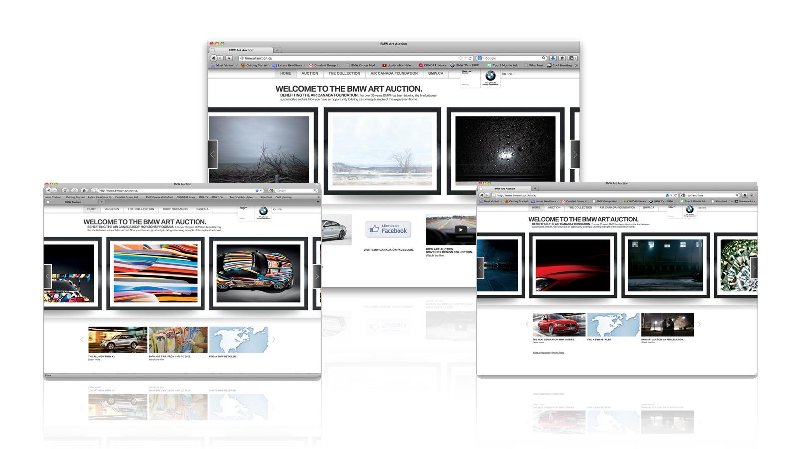 BMW Canada   La vente aux enchères d'œuvres d'art BMW   Design de site web, Développement de site web, Innovation numérique, Marketing numérique, Médias sociaux, Publicité automobile, Stratégie