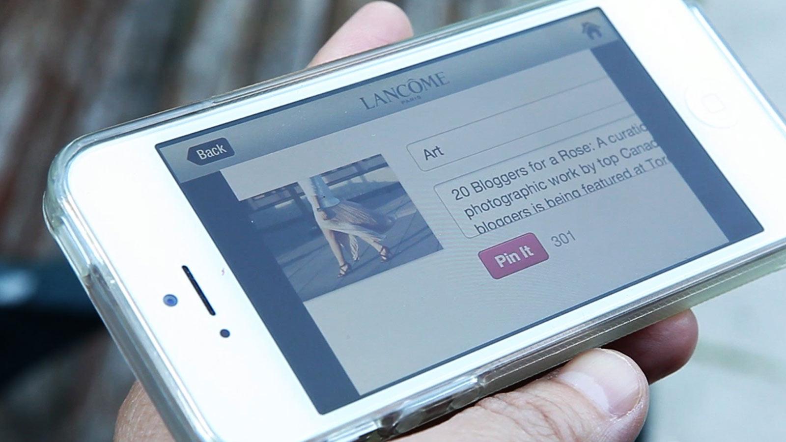 Lancôme | Premier logo sur carte thermique | Application mobile, Expérience utilisateur, Innovation numérique, Marketing événementiel, Marketing expérientiel, Mobile, Réalité augmentée