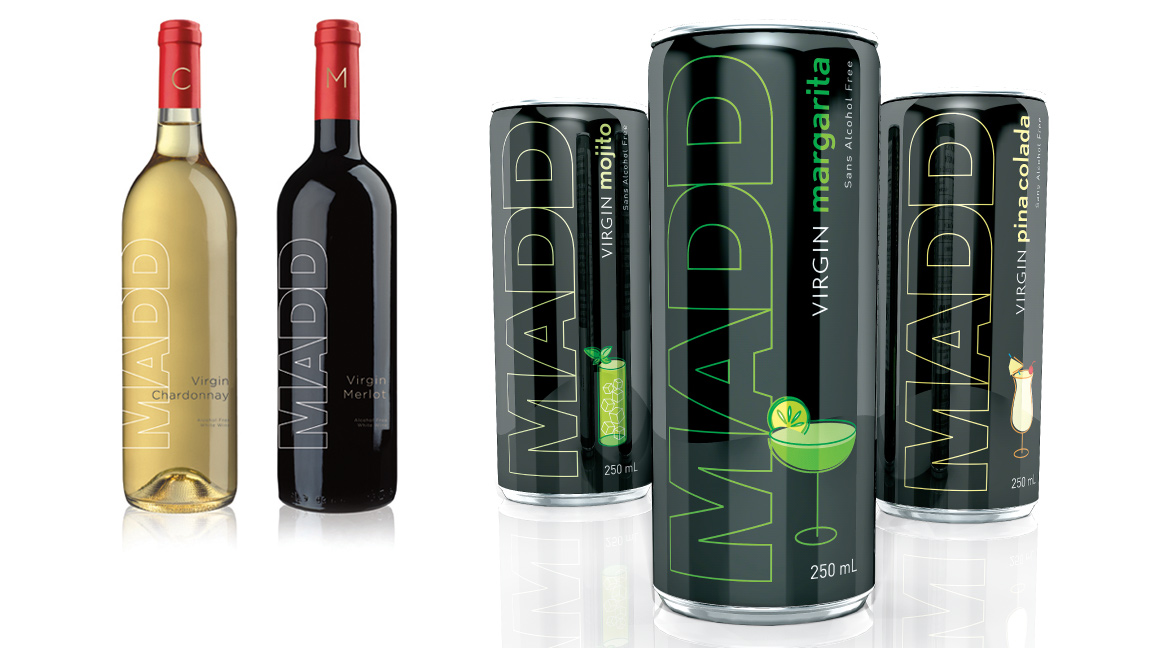 MADD Canada | Campagne Virgin Drinks | Design, Promotion