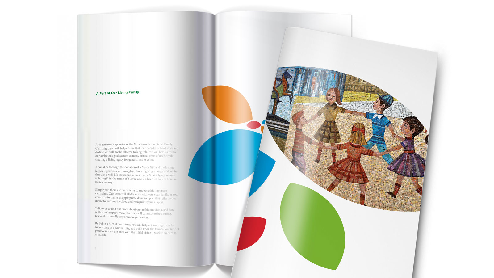 Villa Charities   Campagne de financement   Design, Imprimé, Non-lucratif