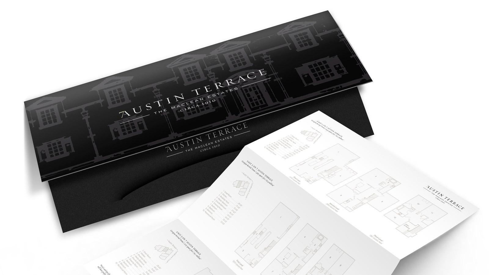 7 Austin Terrace | Identité visuelle | Collatéral, Conception de sites Web / Développement, Design, Imprimé, Marque de lieux
