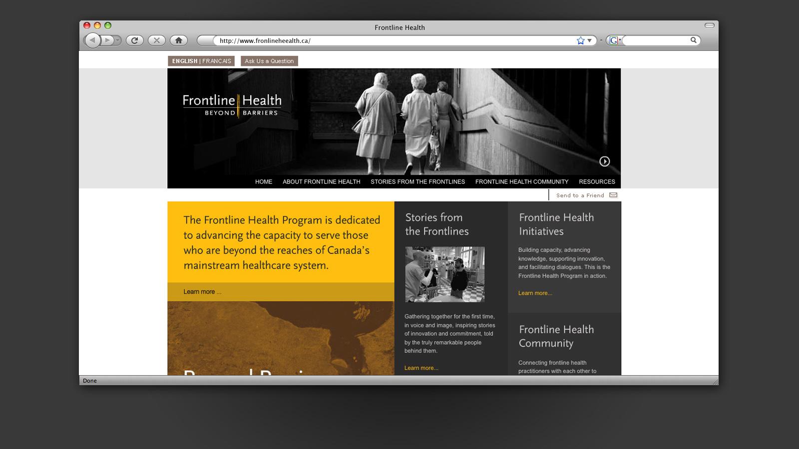 AstraZeneca Canada | Santé sur le terrain | Conception de sites Web / Développement, Design