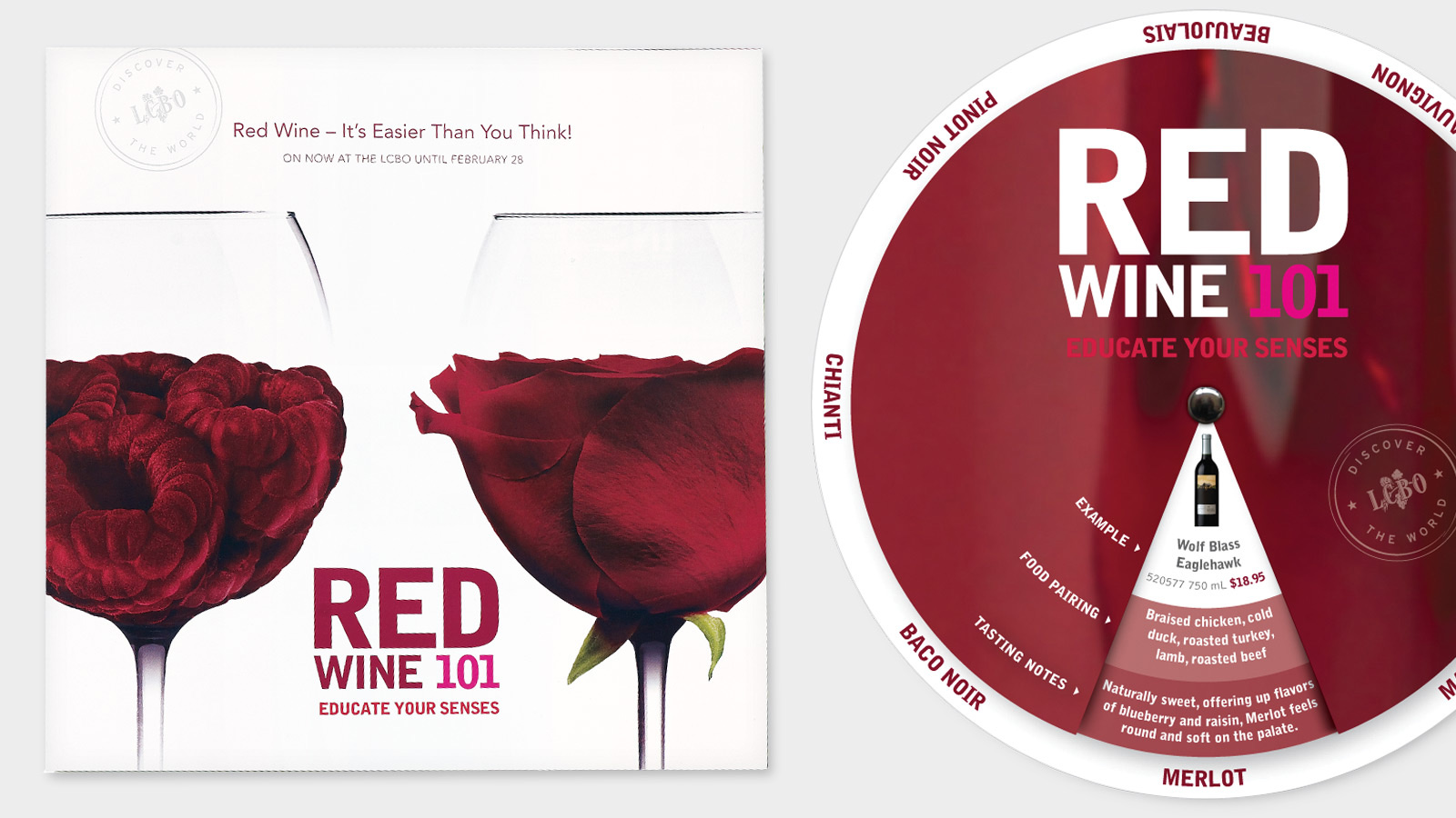 LCBO | Red Wine 101 | Design