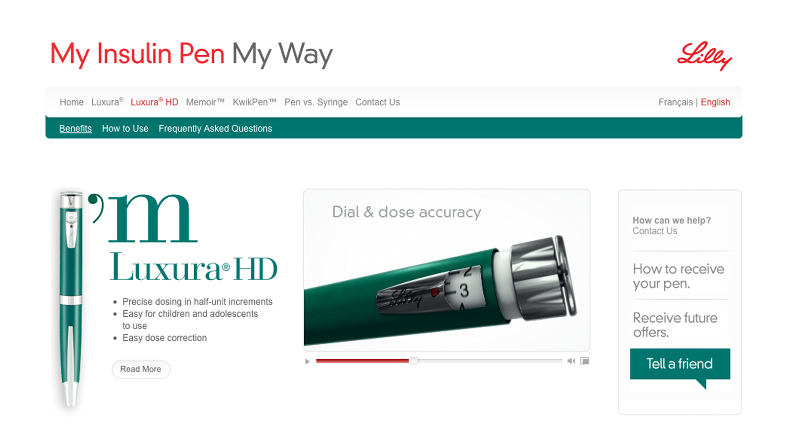 Eli Lilly | mylillypen.com | Website Design & Development