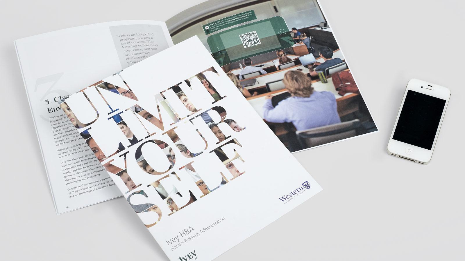 Ivey Business School at Western University | Interactive HBA Brochure | Advertising, Brand Strategy, Branding, Digital Innovation, Digital Marketing, Mobile, Social Media