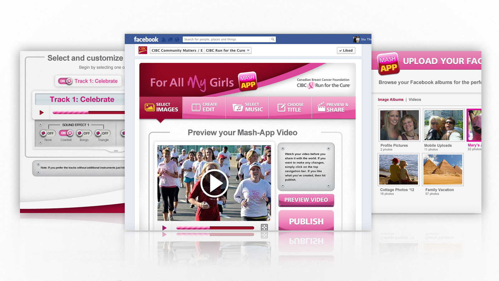 Canadian Breast Cancer Foundation | For All My Girls Mash App | Digital Marketing, Social Media