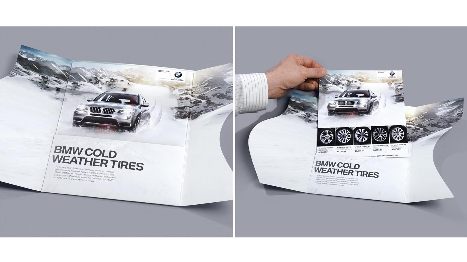 BMW Canada   Snow Tires Cutting Through DM   Direct Marketing