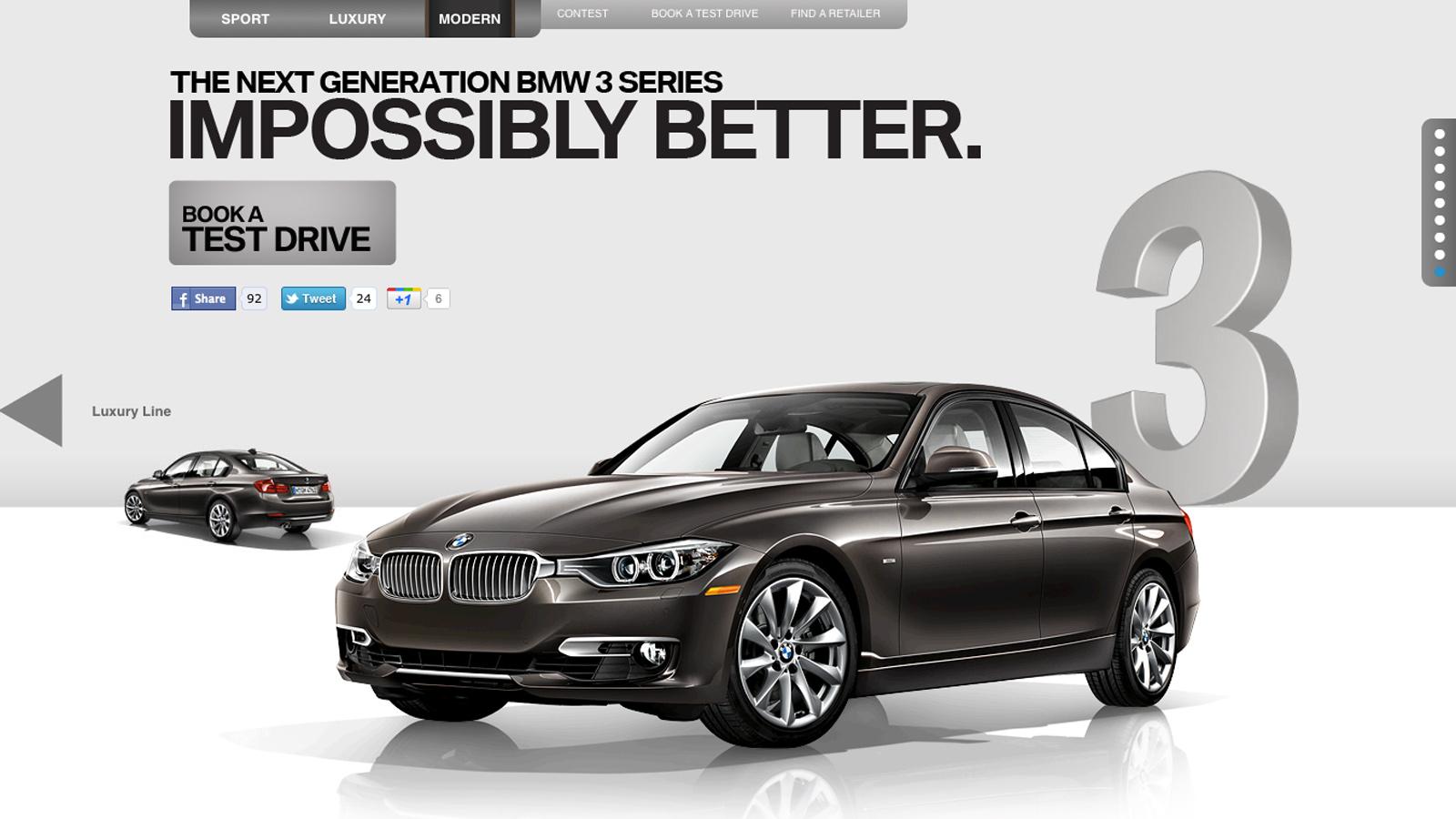 BMW Canada | Next 3 Series | Website Design & Development