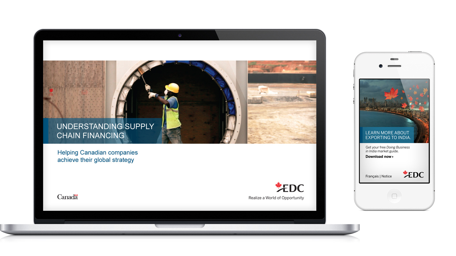Export Development Canada (EDC) | Brand Strategy & Integrated Campaigns | B2B, Brand Strategy, Design