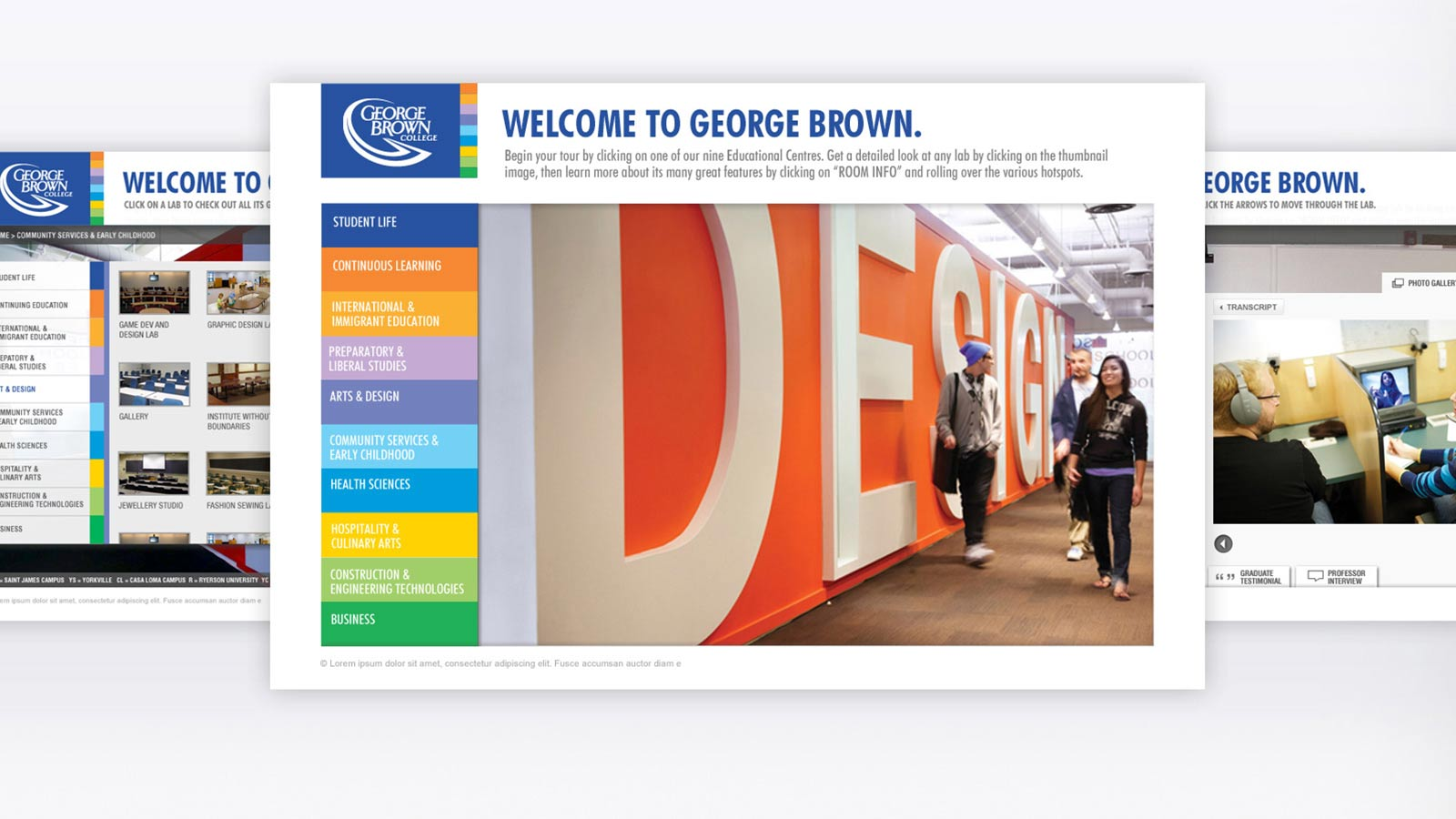 George Brown College | Website Development and Redesign | App Development, Broadcast Production, Digital Innovation, Digital Marketing, Mobile, Responsive Design, Strategy