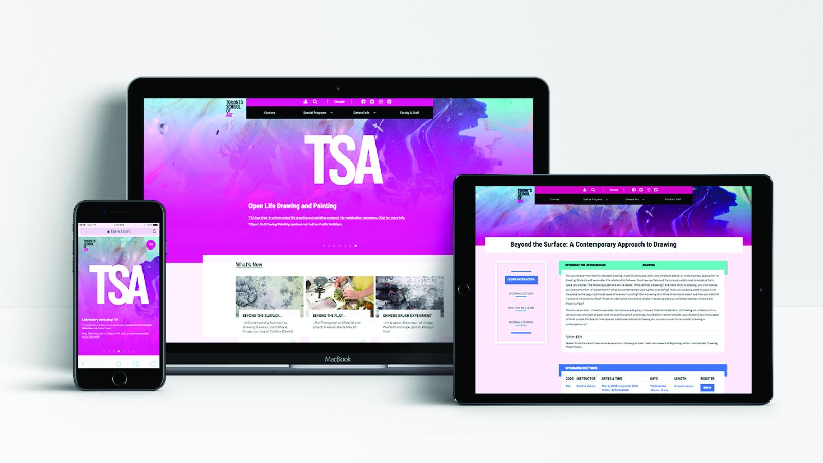 Toronto School of Art   Toronto School of Art – Website   Website Design & Development