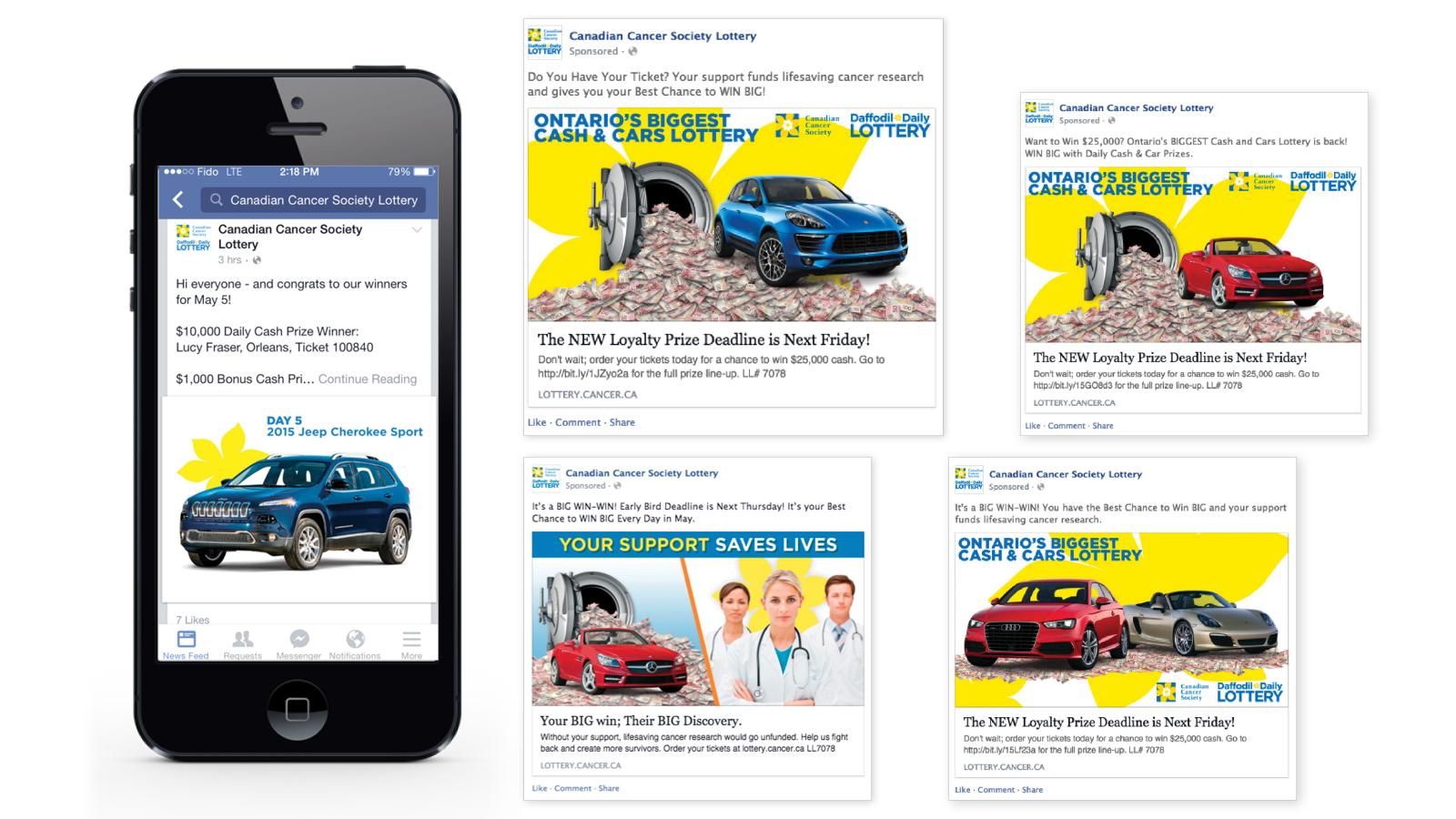 Canadian Cancer Society Lottery | The Canadian Cancer Society Lottery | Digital Marketing, Facebook App Development, Social Media