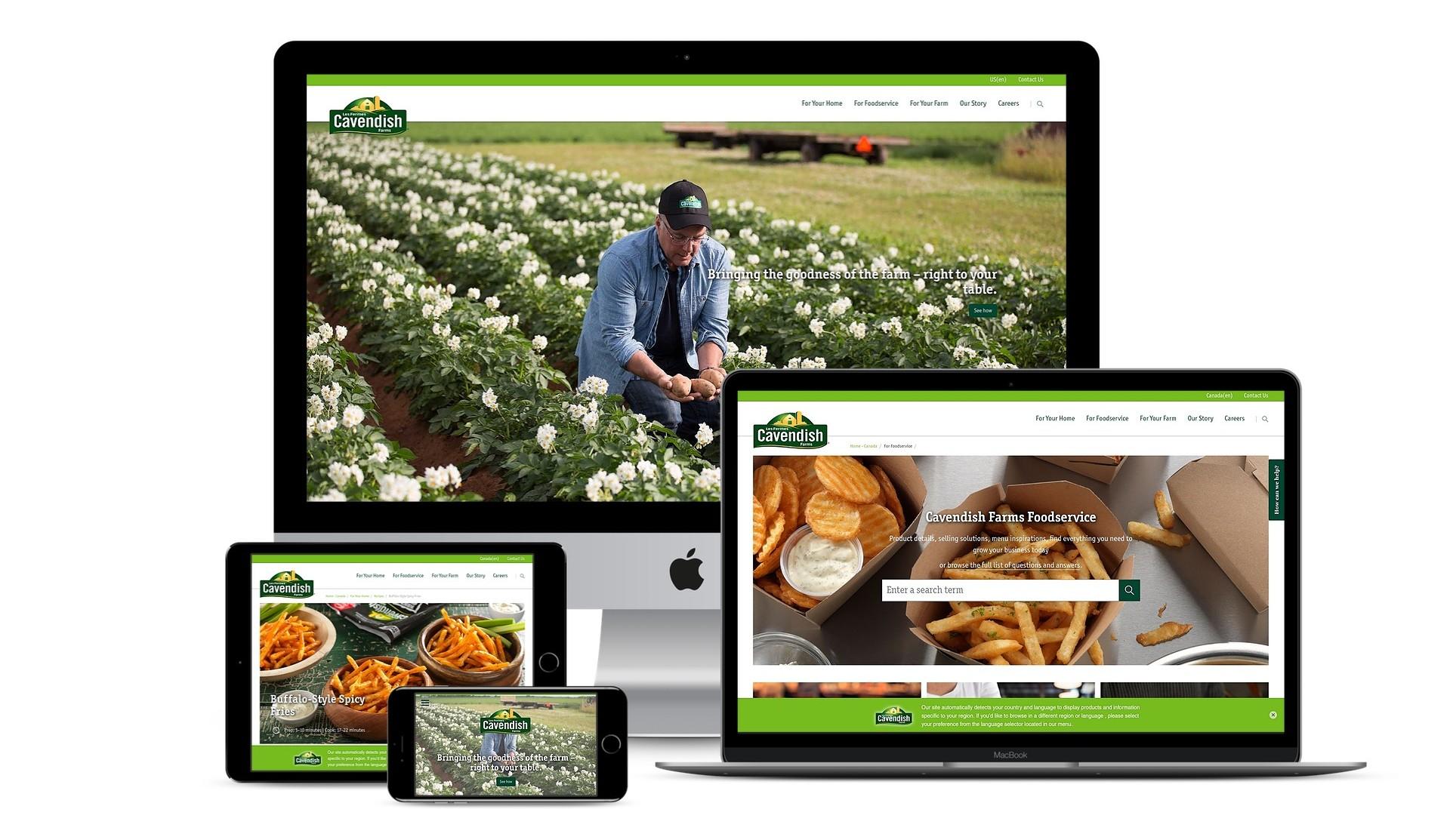 Cavendish Farms | Cavendish Farms | Content Management System, Design, E-Commerce, Episerver, Mobile, Website Design & Development