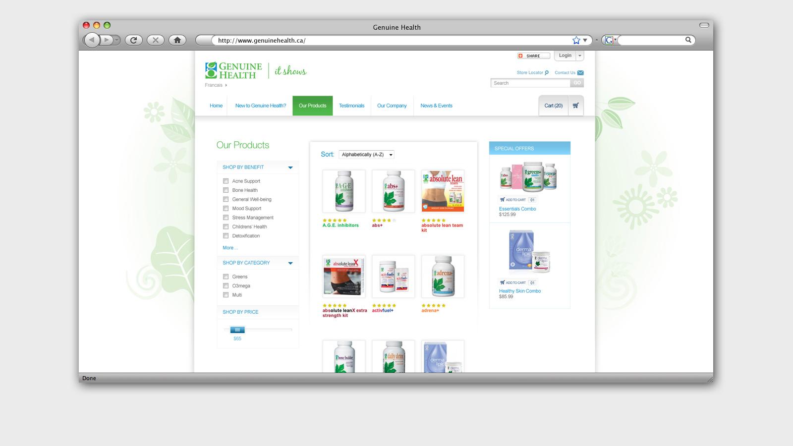 Genuine Health | Website | Website Design & Development